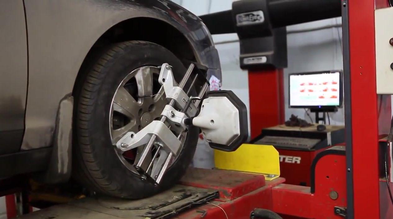 сход-развал переднего колеса